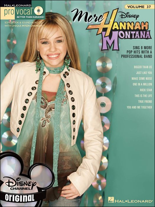 More Hannah Montana Pro Vocal Book For Female Singers Vol 37 Book/Cd