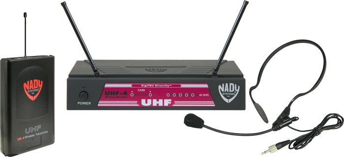 Nady UHF-4 LT/HM-3 (115) Headset Wireless System Ch 16