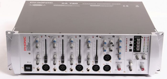 Used Phonic Ka720 Powered Karaoke Mixer  889406475816