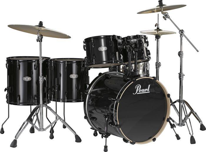 Pearl Vision Vx 6 Piece Rock Drumset Jet Black