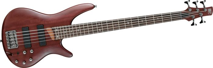 Ibanez Sr505 5 String Electric Bass Guitar Brown Mahogany
