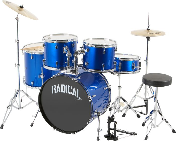 Cannon Percussion Radical 5 5-Piece Drum Set Metallicblue