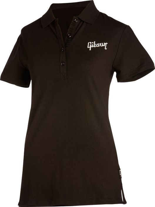 Gibson Woman's Logo Polo Shirt Black Large