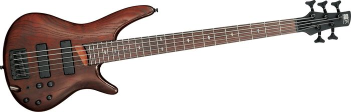 Ibanez Sr605 5-String Bass Guitar Walnut Flat