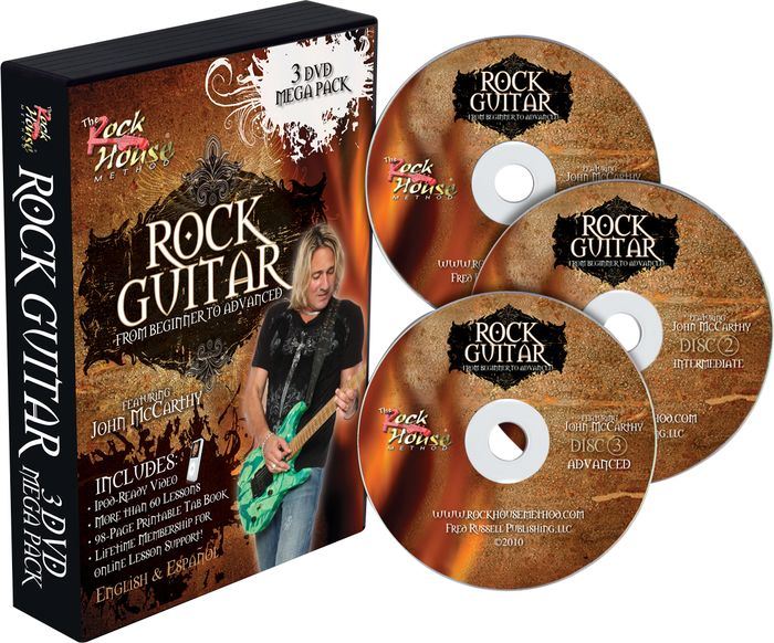 Rock House Learn Rock Guitar: Beginner, Intermediate, and Advanced DVD Package
