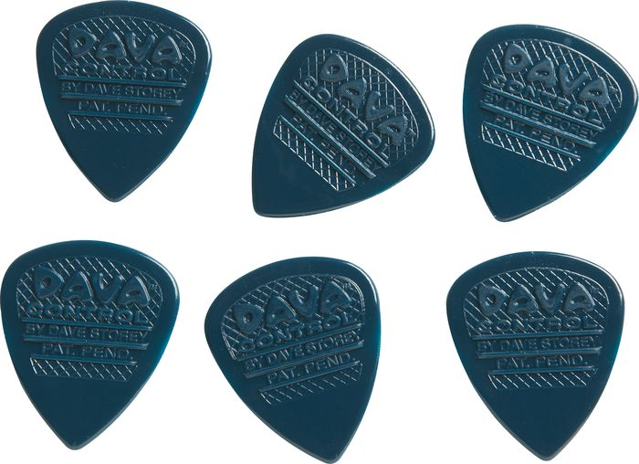 Players Pack of 6 Picks 6 Dava Control NYLON Grip Tip Guitar Picks