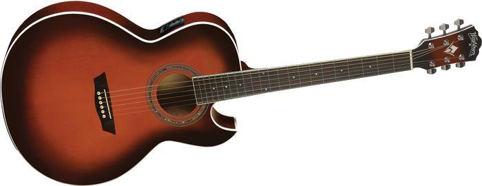 Washburn Festival EA14A Spruce Top Acoustic Cutaway Electric Guitar with 4-Band EQ