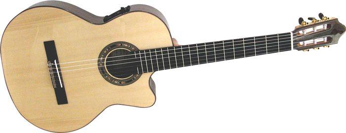 Kremona Fiesta Cutaway Acoustic-Electric Classical Guitar Natural