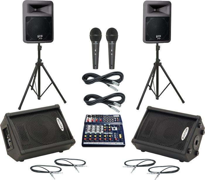 Soundcraft Notepad 124 / PR12D Mains & Monitors Package