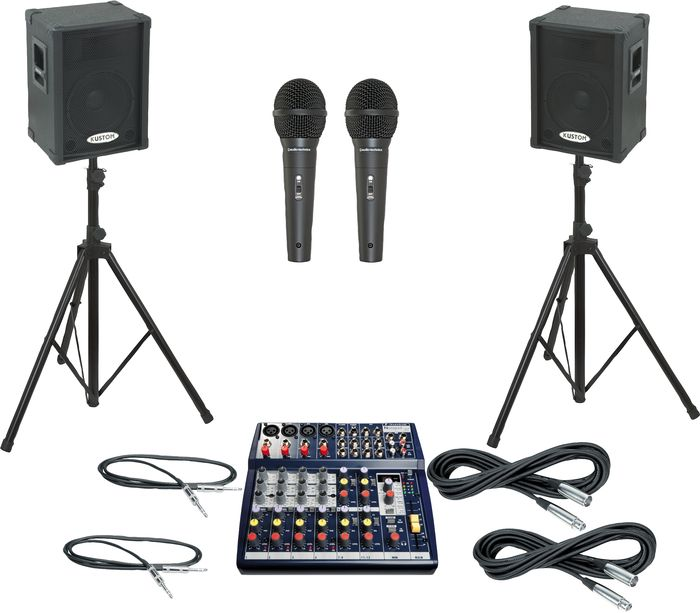 Soundcraft Notepad 124FX / KPC12P PA Package