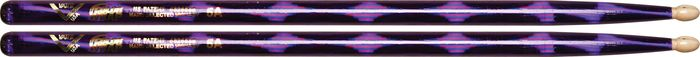 Vater Color Wrap Wood Tip Sticks - Pair 5A Purple Optic