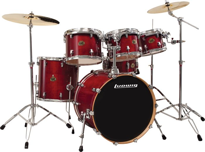 Ludwig Element Birch Fusion 6-Piece Shell Pack Transparent Wine