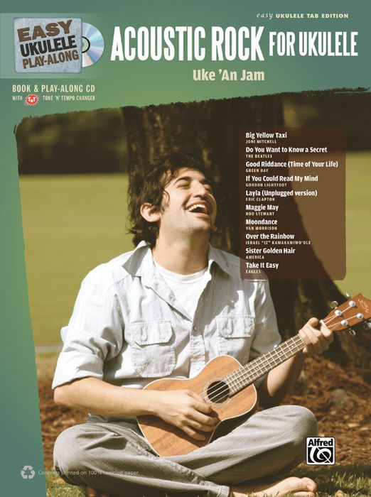 Alfred Easy Ukulele Play-Along Acoustic Rock Book/CD