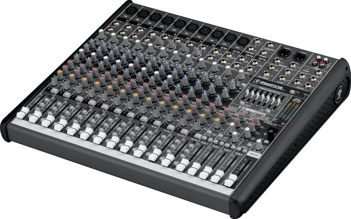 Mackie ProFX16  Compact 4-Bus Mixer with USB & Effects  Left-Facing