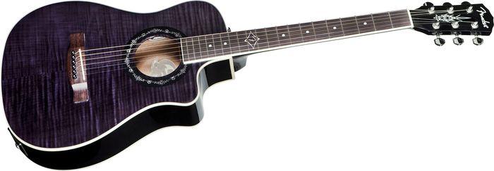 Fender T-Bucket 200Ce Folk Acoustic-Electric Guitar Transparent Black