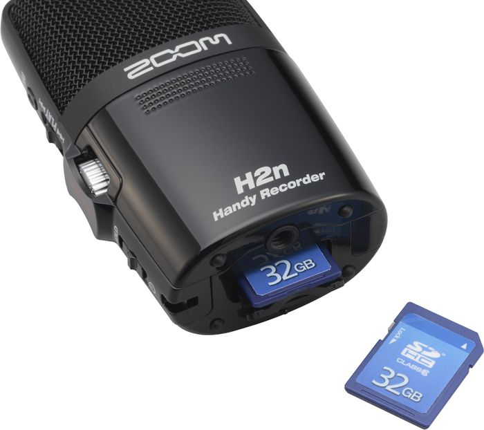Zoom H2n Handy Recorder SD/SDHC Memory