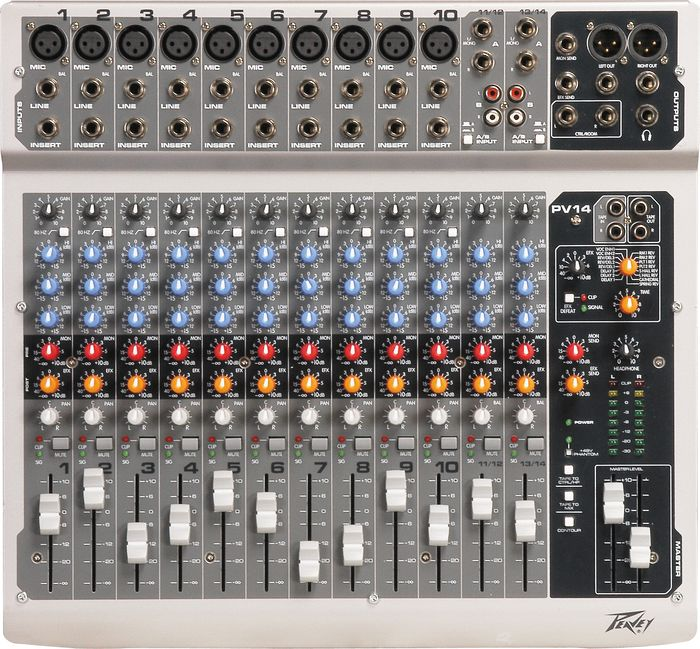 Peavey PV14 Mixer Controls