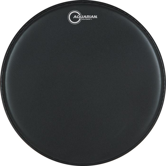 Aquarian Response 2 Drumhead (Black) 14 Inch