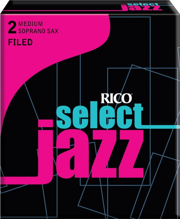 Rico Select Jazz Filed Soprano Saxophone Reeds Strength 2 Medium Box of 10