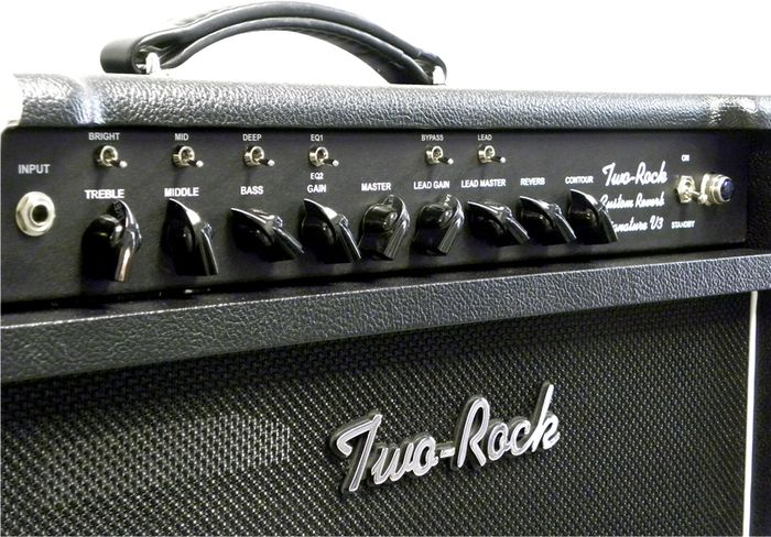 Two Rock TRCU100CM  Custom Reverb v3 100W Tube Guitar Combo Amp Blonde