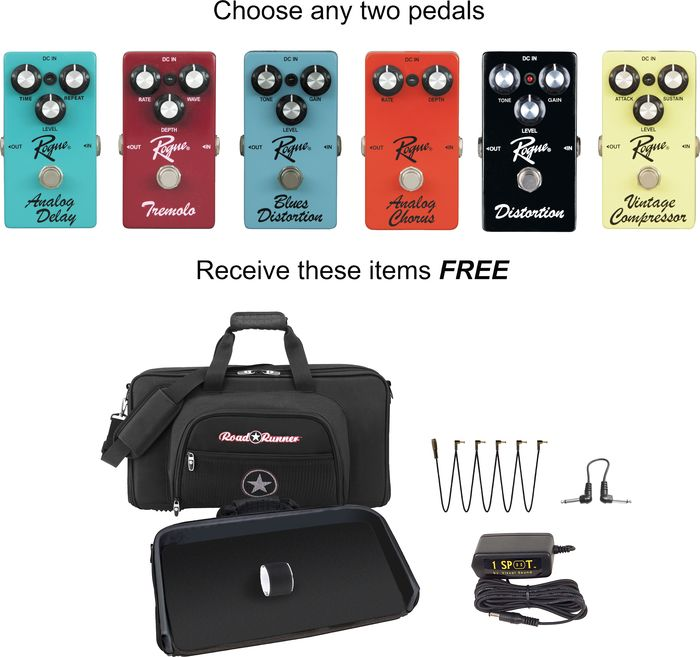 Rogue Effects Pedal Pack Sale at Musician's Friend