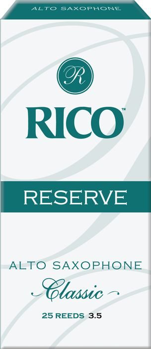 Rico Reserve Classic Alto Sax Reeds Box of 25 Strength 3.5