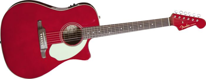 Fender Sonoran SCE Acoustic-Electric Guitar Candy Apple Red