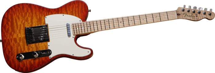 Fender Custom Shop 2012 Custom Deluxe Telecaster Electric Guitar Faded Cherry Burst Maple Fretboard