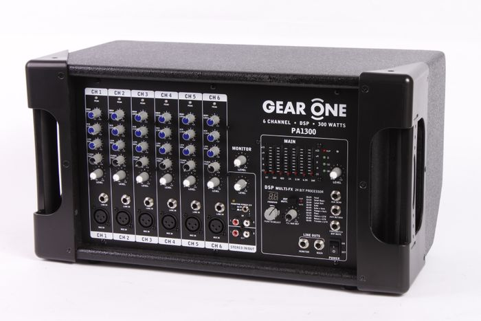 Gear One PA1300 Powered Mixer