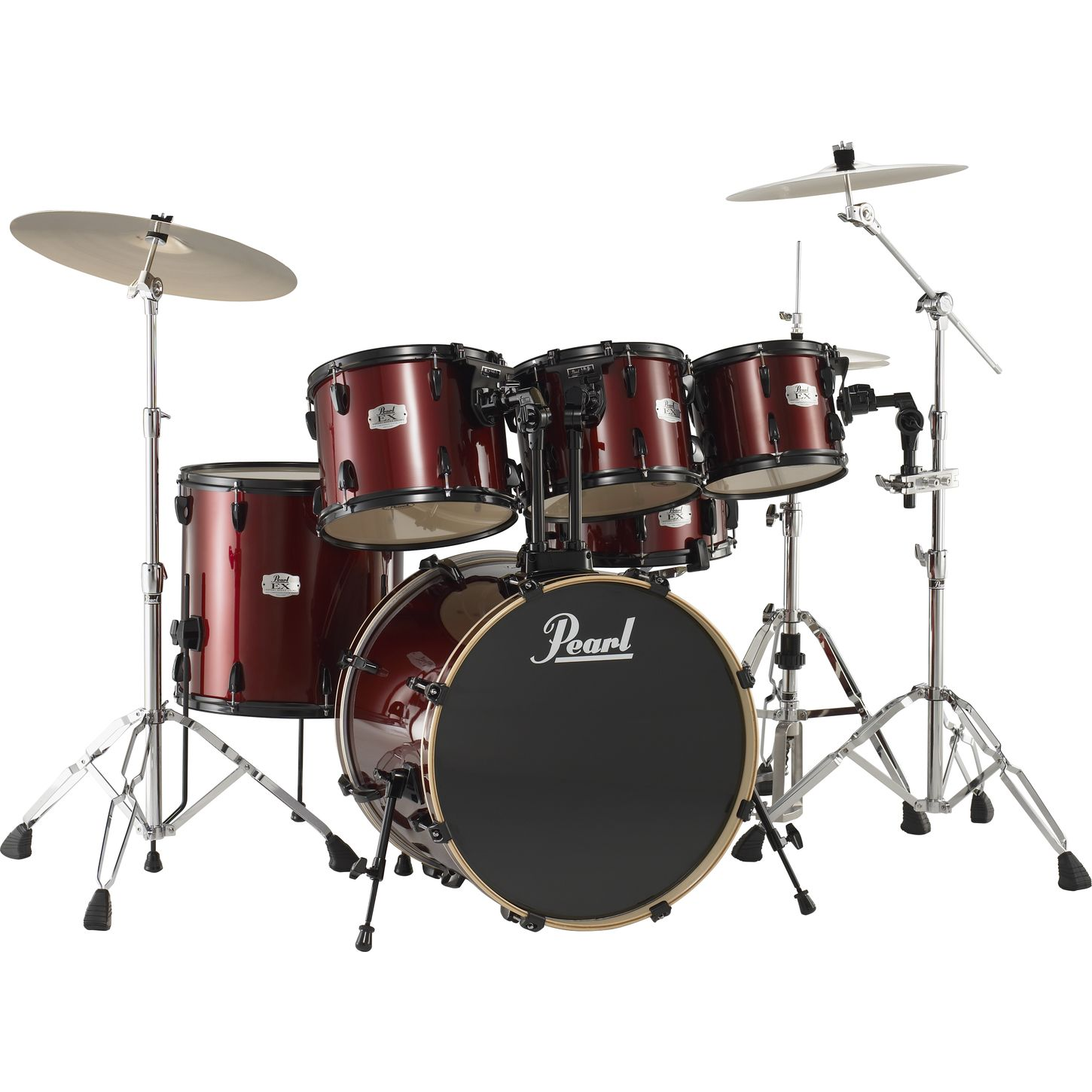 pearl export 5 piece standard drum set with free 10 tom musician 39 s friend. Black Bedroom Furniture Sets. Home Design Ideas