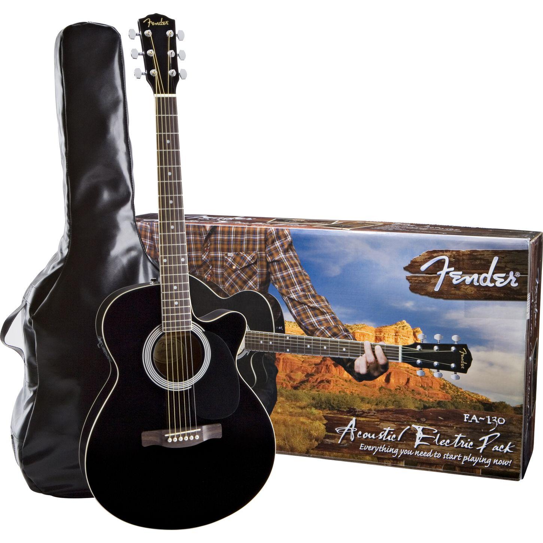 fender fa 130 acoustic electric guitar pack musician 39 s friend. Black Bedroom Furniture Sets. Home Design Ideas