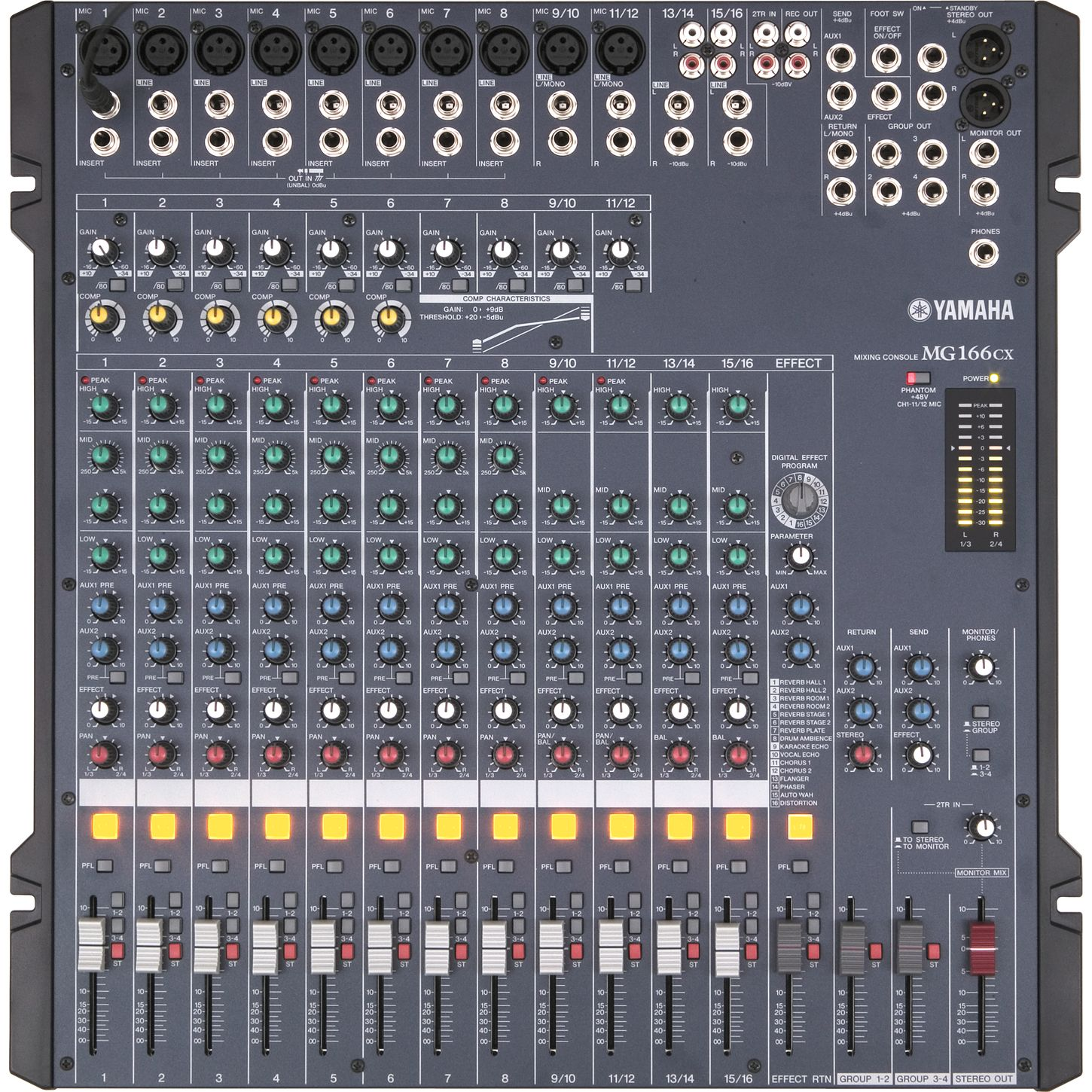 Presonus 32 Channel Digital Mixer Yamaha MG166CX 16-Channel Mixer With Compression and ...