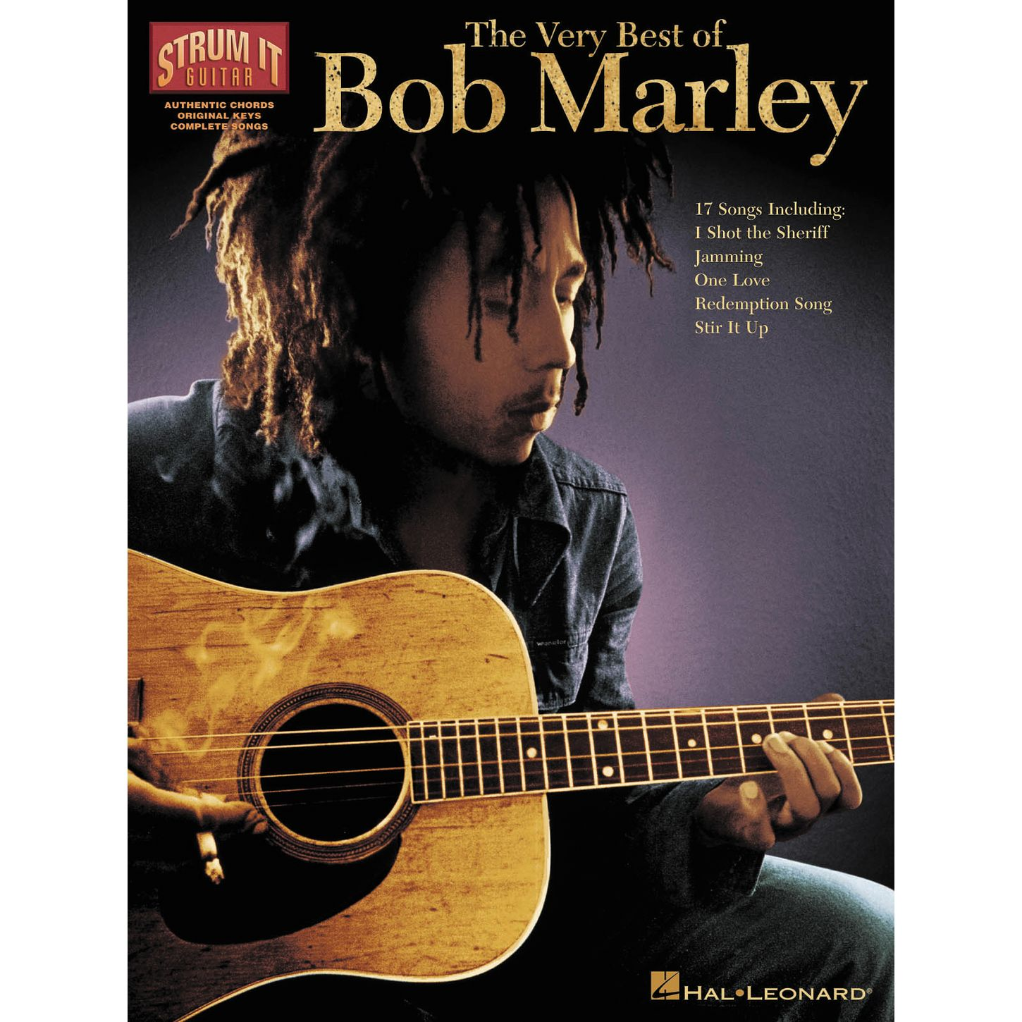 Bob Marley Playing Guitar Poster Lektonfo