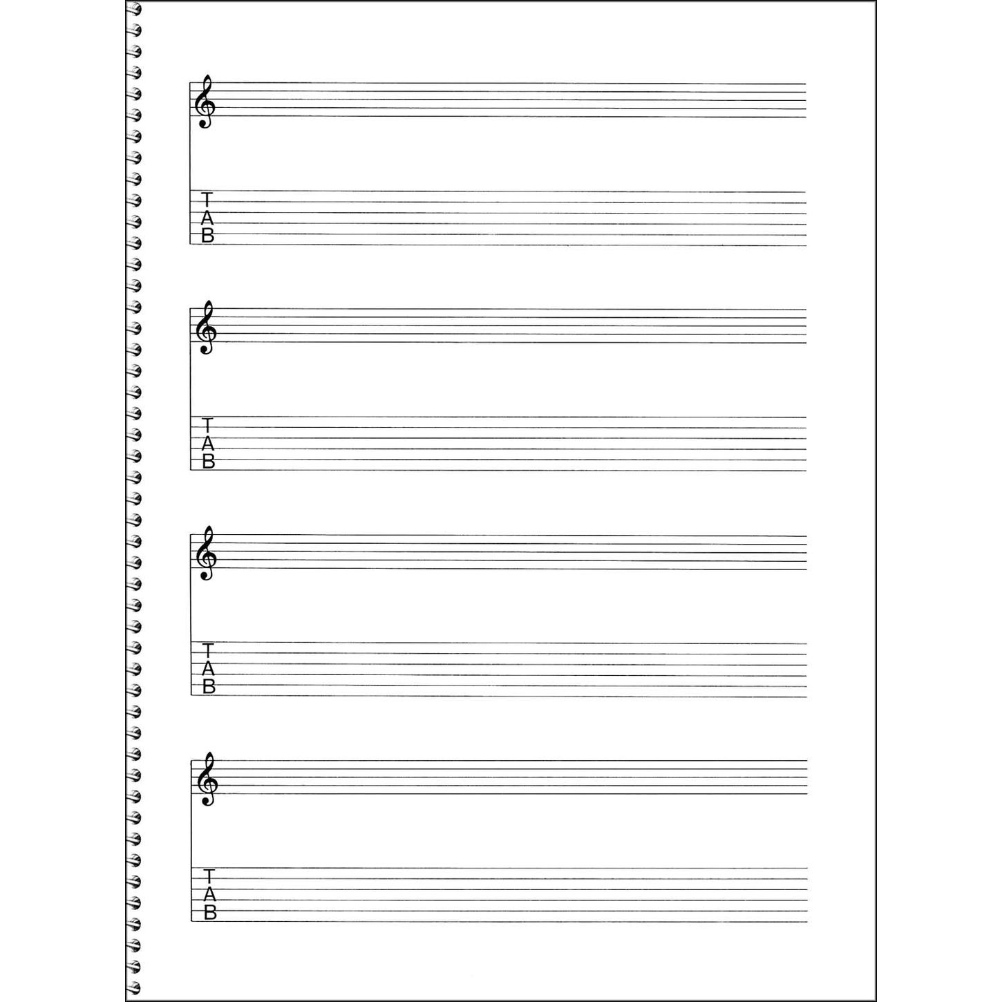 Guitar tablature blank sheets