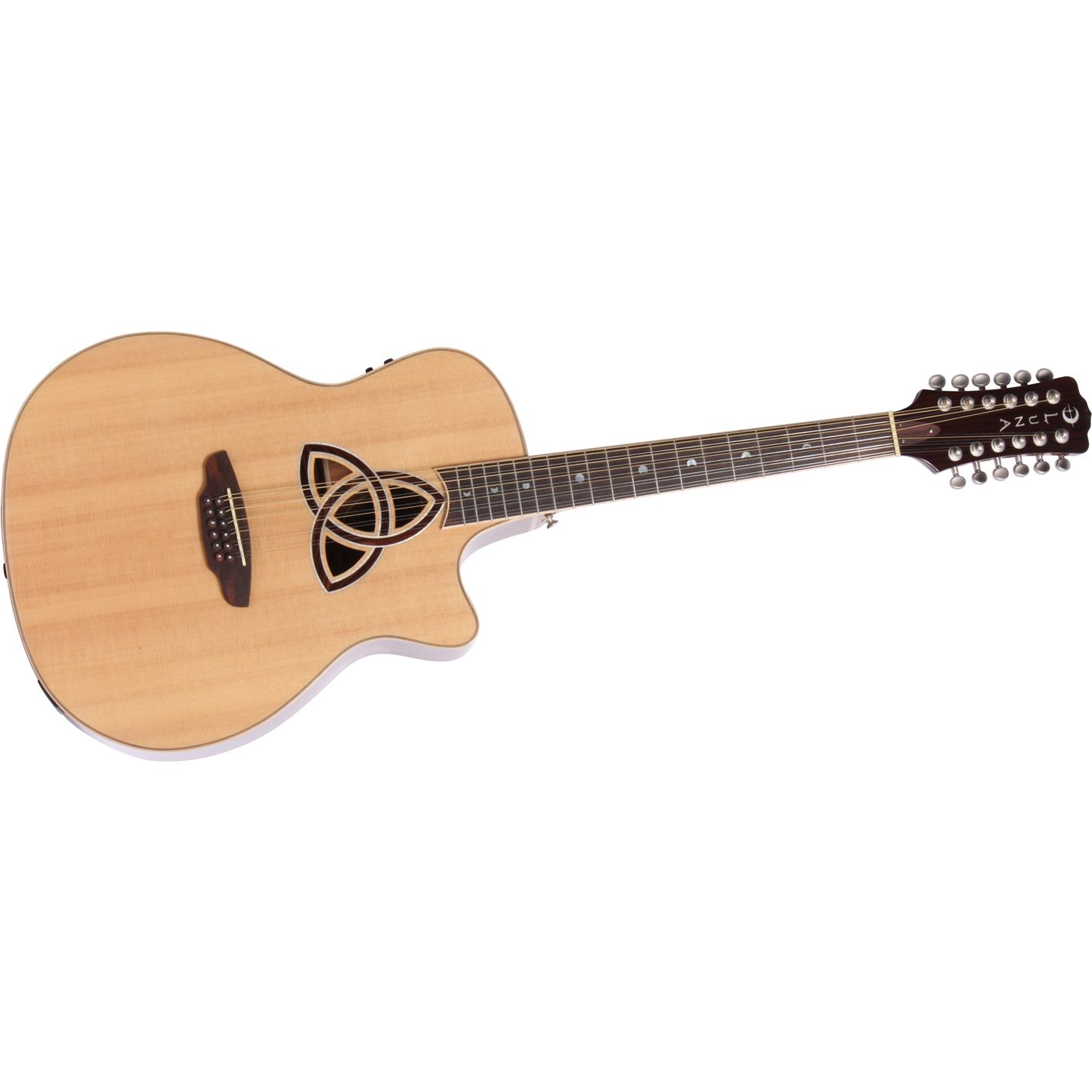 luna guitars trinity 12 string grand auditorium acoustic electric guitar natural musician 39 s friend. Black Bedroom Furniture Sets. Home Design Ideas
