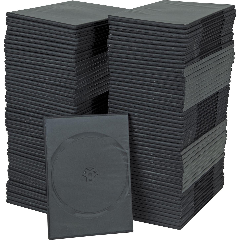 bk media 7mm slim dvd cases 100 pack musician 39 s friend. Black Bedroom Furniture Sets. Home Design Ideas