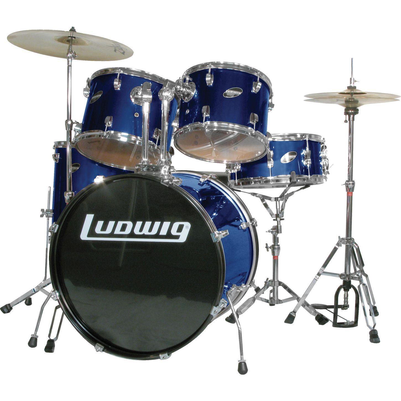 ludwig accent combo 5 piece drum set blue musician 39 s friend. Black Bedroom Furniture Sets. Home Design Ideas