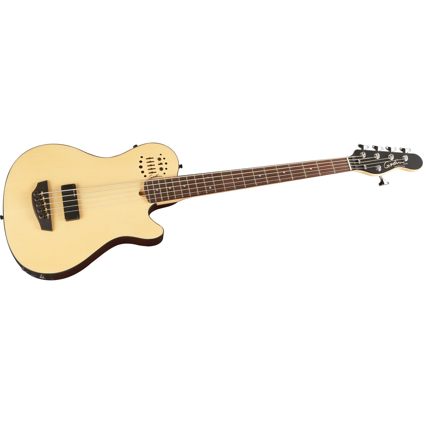 godin a5 ultra natural sa 5 string acoustic electric bass guitar natural rosewood fretboard. Black Bedroom Furniture Sets. Home Design Ideas