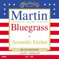 MartinM240 80/20 Bronze Round Wound Bluegrass Medium Light Acoustic Guitar Strings