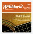 D\'Addario EJ10 80/20 Bronze Extra Light Acoustic Guitar Strings