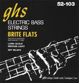 GHSML3075 Brite Flats Flatwound Electric Bass Strings