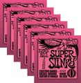 Ernie Ball2223 Nickel Super Slinky Pink Electric Guitar Strings 6 Pack