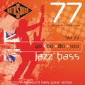 RotosoundSM77 Jazz Bass Monel Flatwound Strings