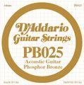 PB025 Phosphor Bronze Single Acoustic Guitar String