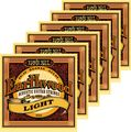 Ernie Ball2004 Earthwood 80/20 Bronze Light Acoustic Guitar Strings 6 Pack