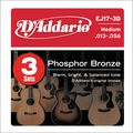D'AddarioEJ17 Phosphor Bronze Medium Acoustic Strings 3-Pack