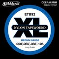 D'AddarioETB92 Nylon Tapewound Medium Gauge Bass Strings