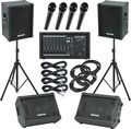 Gear OnePA2400 / Kustom KPC15 Mains and Monitors Package