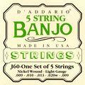 D\'Addario J60 5-String Banjo Strings