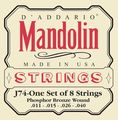 D'AddarioJ74 Phosphor Bronze Medium Mandolin Strings
